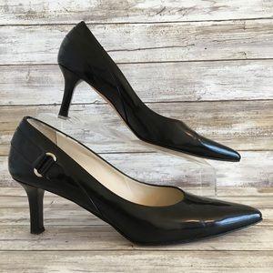 Talbots Black Leather Pointed Toe Dress Pump..(51)